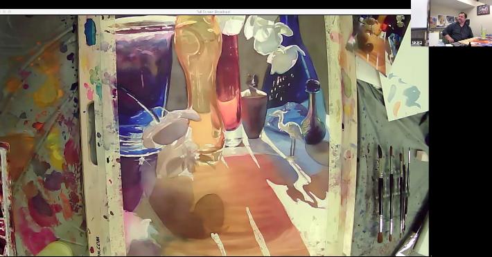 Paul Jackson Painting Glass