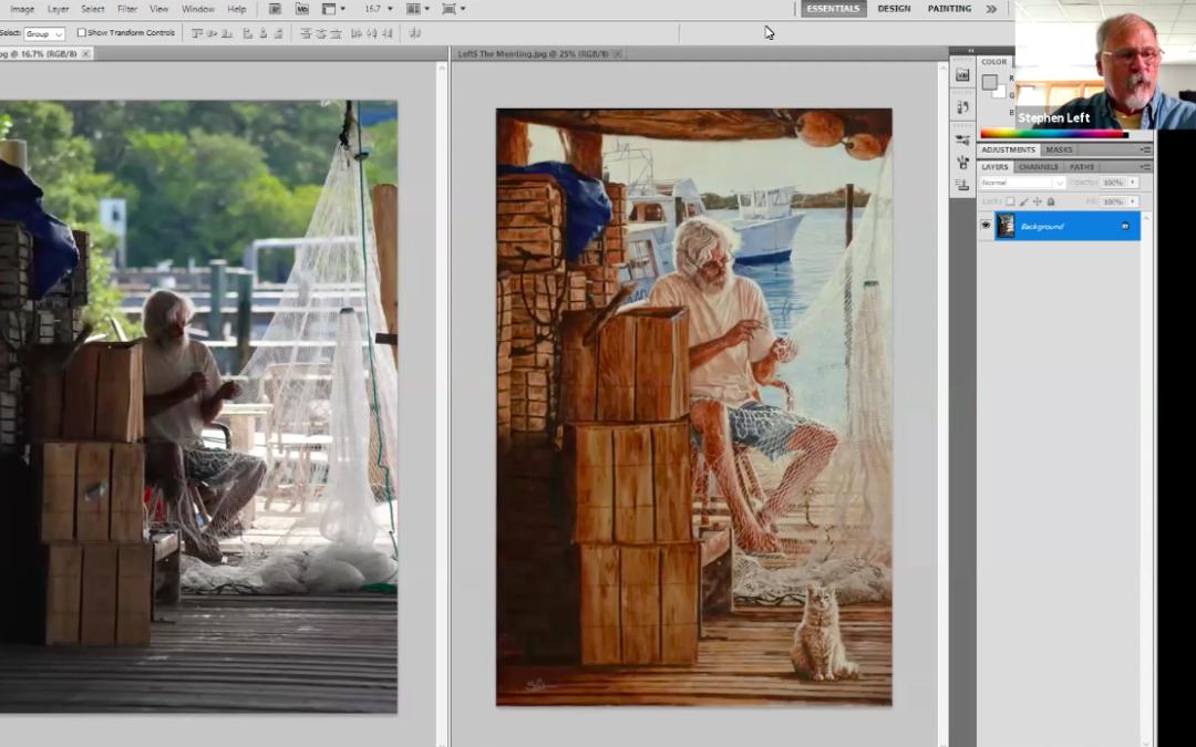 "Stephen Left A ""Lazy Artist"" Approach Using Photoshop"